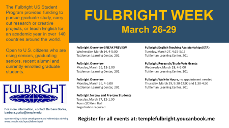 Fulbright Week Slide 2018 with schedule