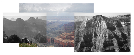 Ansel Adams and fire on the south rim