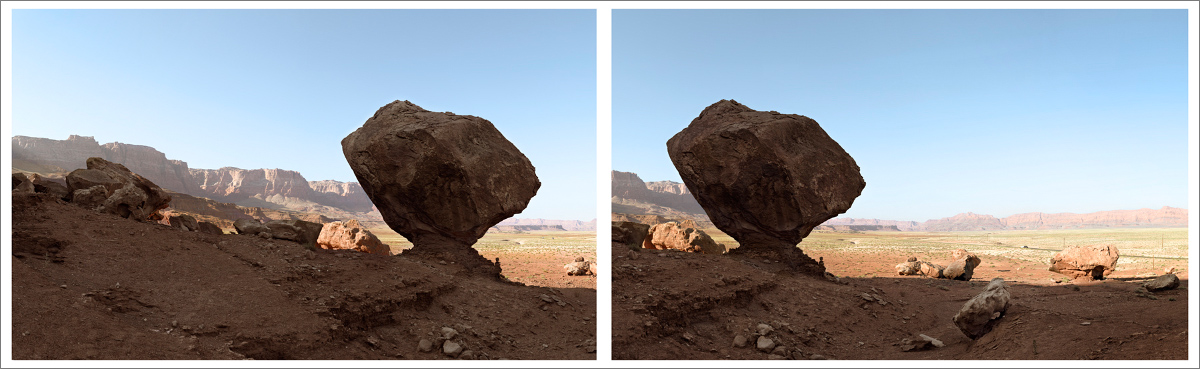 Panorama of Perched Rock in stereo